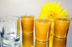 """100% Beeswax 15-hour Votives Candles Organic - 2"""" Tall, 1.5"""""""