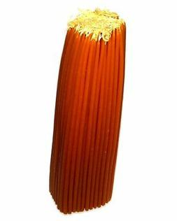 """100% Beeswax 2-hour Candles Organic Hand Made - 12"""" Tall, 1/"""