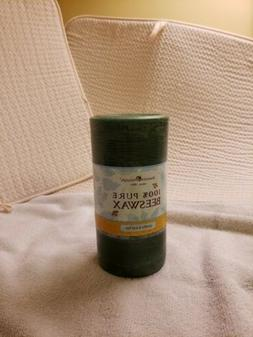Blue Corn 100% Beeswax 3 inch wide x 6 inches tall Green Pil