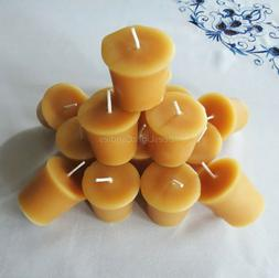 🐝 100% Beeswax Votives Candles / USA Emergency Honey Scen