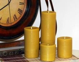 Handmade 100% Pure Beeswax Pillar Candles 100% Cotton Wick 3