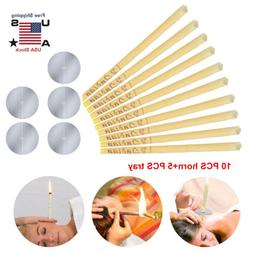10pcs Ear Cleaner Wax Removal Candles Treatment Care Healthy