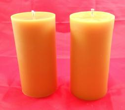 2 - 5 inch Cylinder 100% Beeswax Candle for Home Gift Favor