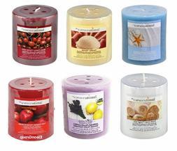 2-Pack Pillar Candles Luminescence Fresh Linen, Apple Cinnam