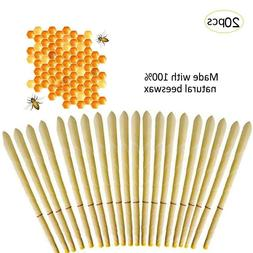 20pcs Ear Wax Cleaner Removal Hollow Candles Natural Bee Wax