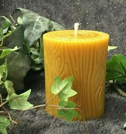 """4"""" Handmade 100% Pure Beeswax Large Round Pillar Candle Long"""
