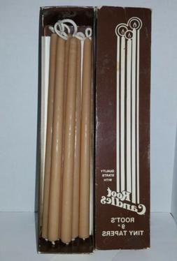 """6 Vintage Root Candles 9"""" Dipped Tiny Taper Beeswax Candle I"""