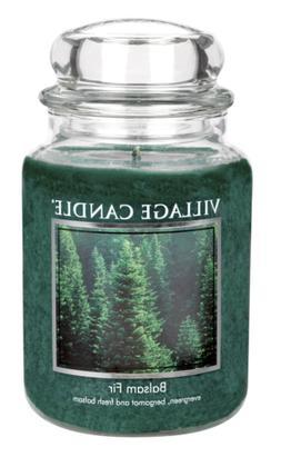Village Candle Balsam Fir 26 oz Glass Jar Scented Candle, La