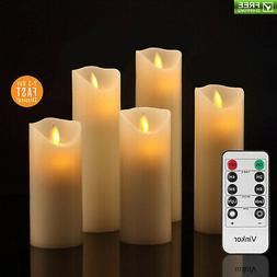 Vinkor Flameless Candles Battery Operated Candles Set Decora