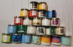 Bath & Body Works 3-Wick Candles. Variety of scents.