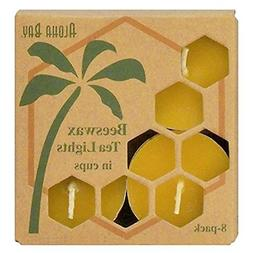 Bees Wax Tea Light Candles - 8 Pack