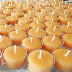 🐝 100% Beeswax Tealight Candles BULK USA Honey Tea Lights