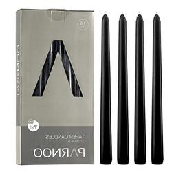 Light In The Dark Black Taper Candles - Set of 14 Dripless C