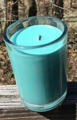 Candles Basil & Lime AI Root 6.5oz Bamboo Wick Teal