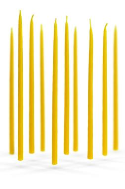 Candles beeswax 100% natural material set of ten candles