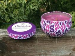 Candles holistic Detoxify woodwick beeswax blend 4oz tin Spe