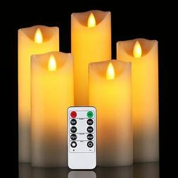 """Da by Flameless Candle 5"""" 6"""" 7"""" 8"""" 9"""" Set of 5 Realistic Dan"""