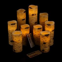 Vinkor Flameless Candles Battery Operated Candles Birch Effe