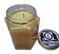 Frankincense & Myrrh Scented 100% Beeswax Jar Candle, 8 oz