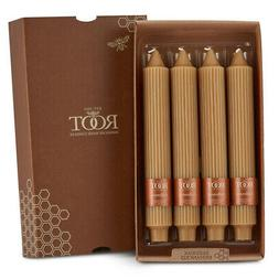 """Root Grecian Collenette 9"""" Unscented Candles, Beeswax, Box o"""