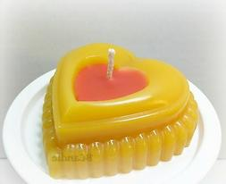Heart Candle - Beeswax Candles - Decorative Beeswax Candle -