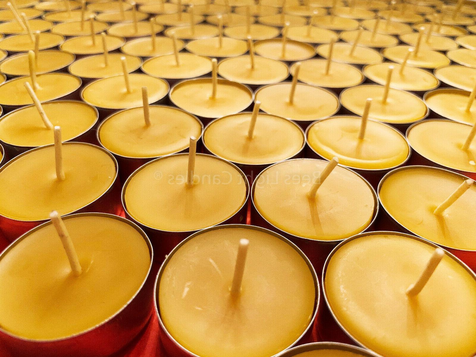 beeswax tealights bulk 100 percent pure candles