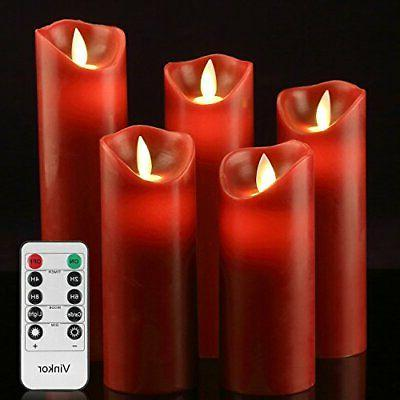 luminara moving wick flameless candle