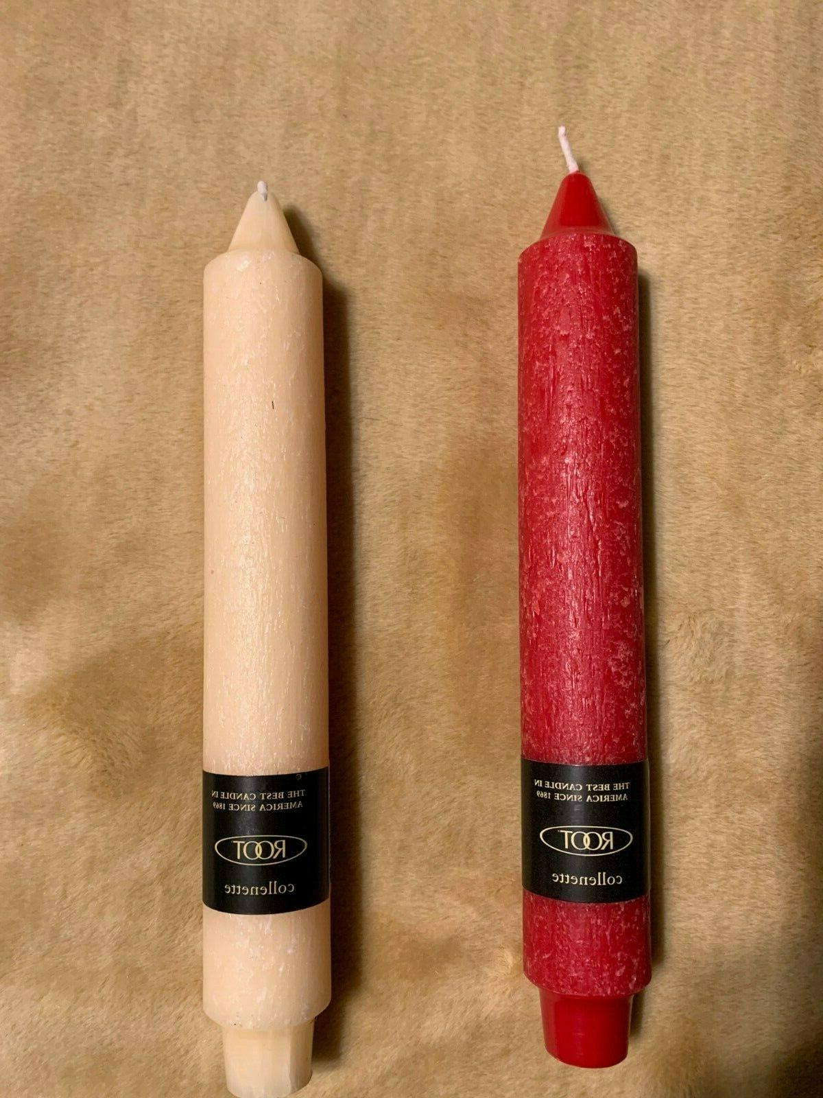 timberline 9 collenette dinner candle color red