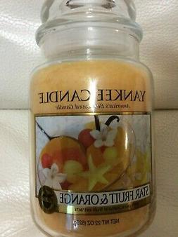 Yankee Candle Star Fruit & Orange Large Jar 22oz NEW! Summer