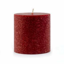 "Root Timberline Pillar 3x3"" Unscented Candle, Garnet"