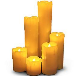 "LED Lytes Timer LED Candles - Slim Set of 6, 2"" Wide and 2""-"