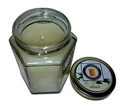 Vanilla Scented 100% Beeswax Jar Candle, 8 oz Hand Poured by