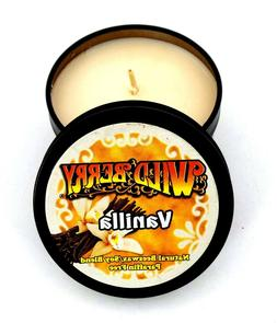 Vanilla Scented Candle 4 oz Travel Tin Beeswax Soy Blend Can