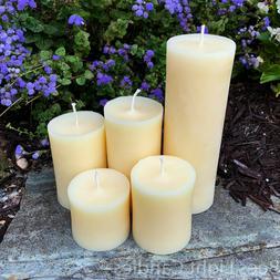 🐝 White Beeswax Pillar Candles 100% Natural Honey Bees Wa