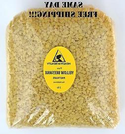 YELLOW BEESWAX BEES WAX ORGANIC PASTILLES BEADS PREMIUM 100%